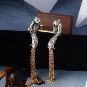 NWOT Alexis Bitter Birds Crystal Tassels Earrings